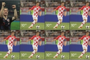 Luka Modrić na poštanskoj marki