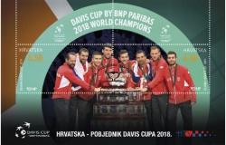 Hrvatska teniska reprezentacija na prigodnom bloku