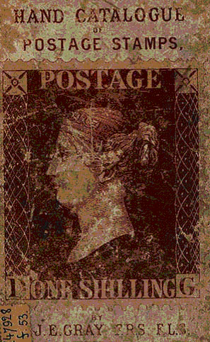 Hand catalogue of postage stamos 1862
