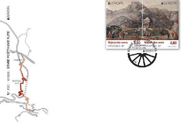 Europa – stare poštanske rute